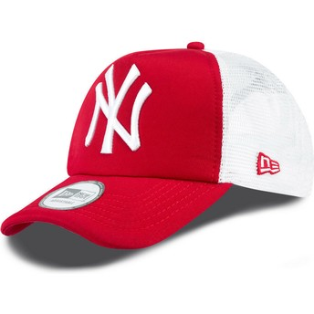 Gorra trucker roja Clean A Frame de New York Yankees MLB de New Era