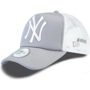 Gorra trucker gris Clean A Frame de New York Yankees MLB de New Era
