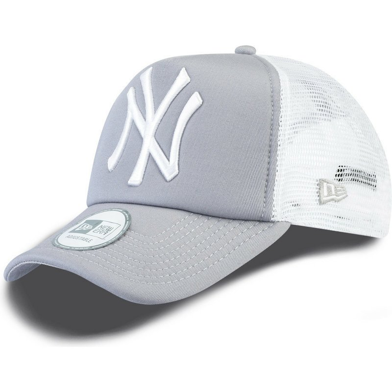 Gorra trucker gris Clean A Frame de New York Yankees MLB de New Era 29f90e4305a