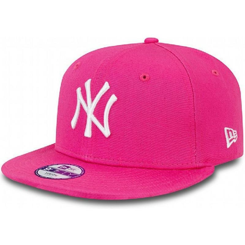 Gorra plana rosa snapback para niño 9FIFTY Essential de New York ... 9e64d18b44f