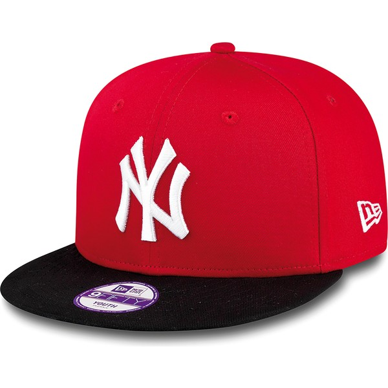 ... Block de New York Yankees MLB de New Era. gorra-plana -roja-snapback-para-nino-9fifty-cotton- 3b423198c42