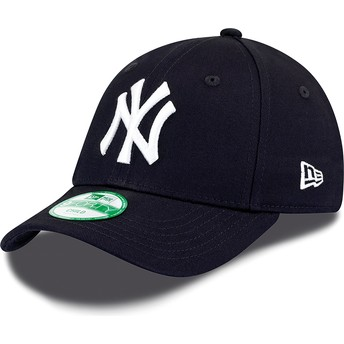 Gorra curva azul marino ajustable para niño 9FORTY Essential de New York Yankees MLB de New Era