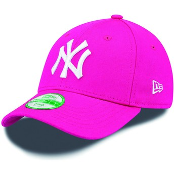 Gorra curva rosa ajustable para niño 9FORTY Essential de New York Yankees MLB de New Era