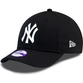 Gorra curva negra ajustable para niño 9FORTY Essential de New York Yankees MLB de New Era
