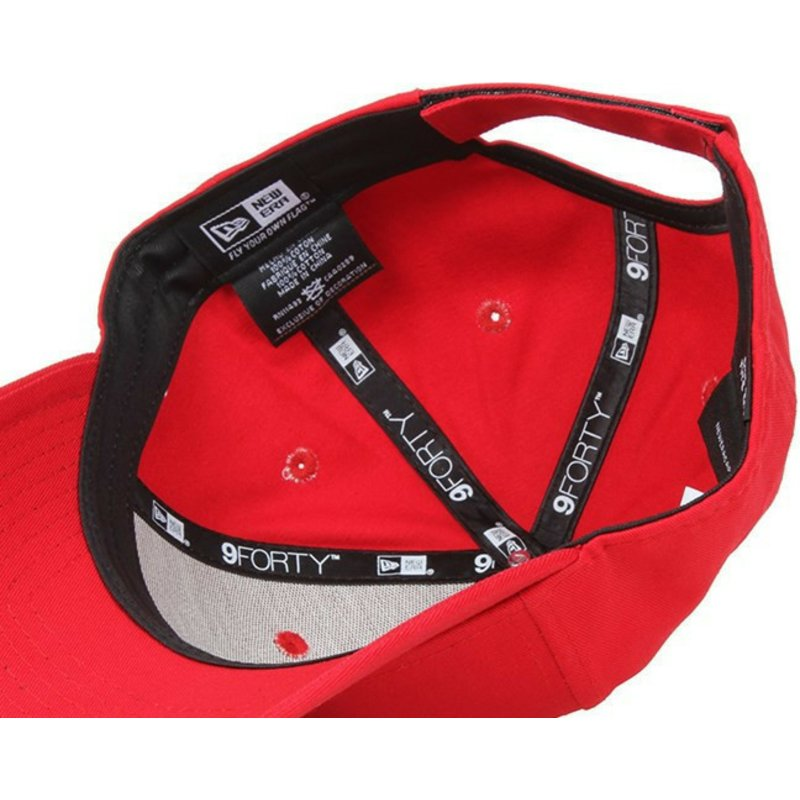 Gorra curva roja ajustable 9FORTY Basic Flag de New Era  comprar ... ffc5be9e2143d